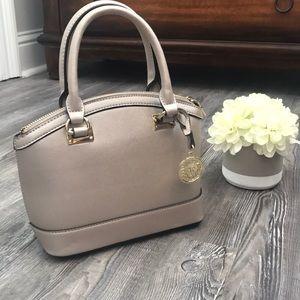 Gold metallic Anne Klein mini dome satchel